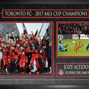 Jozy Altidore signed framed championship photo