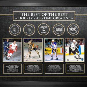 Howe Orr Gretzky Lemieux 36x48 Frame