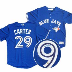 Signed Joe Carter Blue Jays Jersey