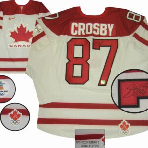 Crosby 2010 Olympics Signed Jersey White