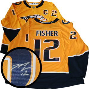 Signed Mike Fisher Predators Jersey