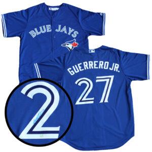 Vladimir Guerrero Jr. Signed Blue Jays Jersey Blue