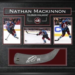 Signed Nathan MacKinnon Stickblade