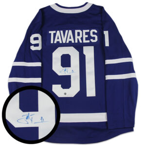 Tavares Signed Fanatics Jersey Blue