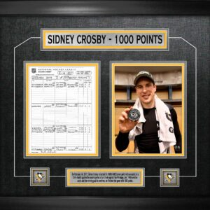 Sidney Crosby 100th Point Framed Collage