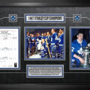 Toronto Maple Leafs Framed 1967 Cup Champions Collage