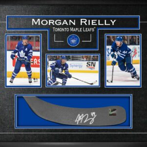 Morgan Rielly Signed Stickblade with Photos